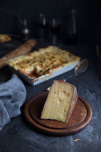 Cheese and lasagne