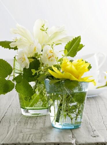 Tischdekoration Fruhlingsblumen