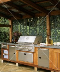 Outdoor kitchen with canopy  buy images  StockFood
