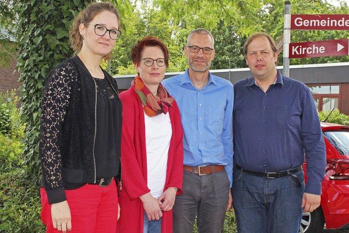 Besorgt über die Reaktion aus Apensen: der Vorstand des Kindertagesstättenverbands Buxtehude, Sarah Pfefferkorn (v.li.), Rita Wunderlich, Lutz Tietje und Thomas Haase