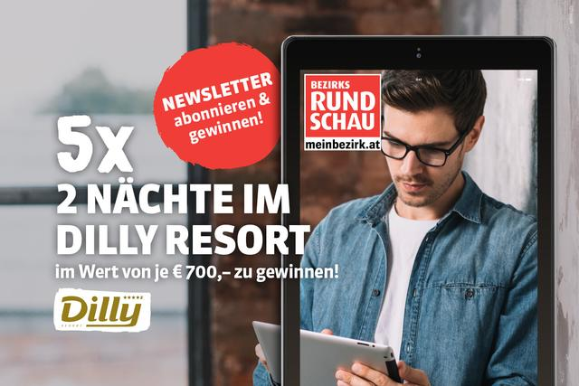 We are giving away 5 x 2 nights at the Dilly Resort in Windischgarsten among all newsletter subscribers