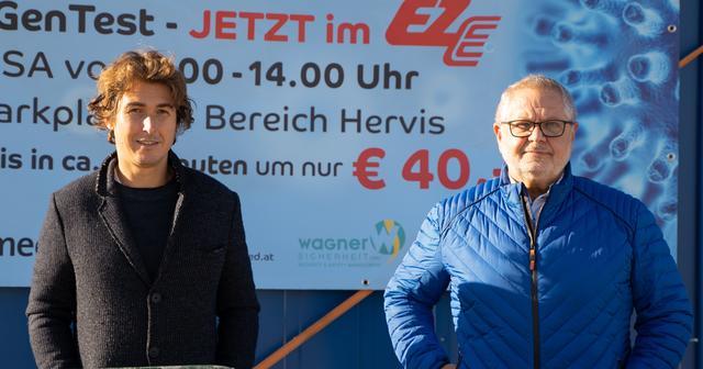 Doctor Stefan Horwath and Herbert Wagner offer rapid Covid tests
