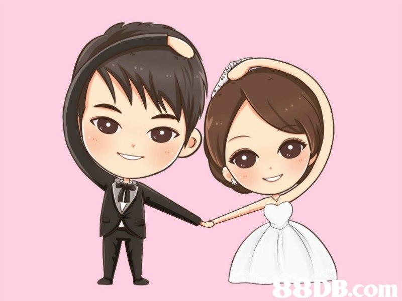Q版人像設計,結婚,留念,手繪,漫畫 - HK 88DB.com