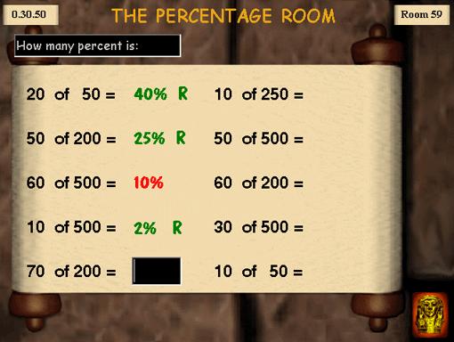 Chefrens Pyramid, matte, procent