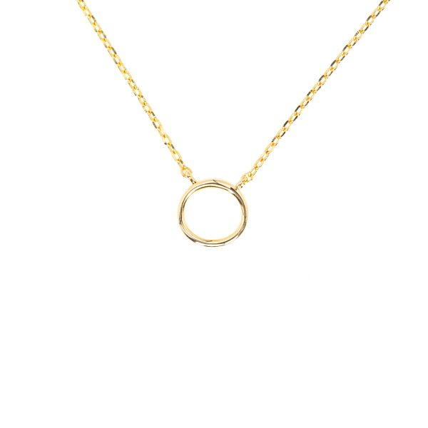 Delicate, round necklace in gold