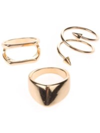 Stone and Locket Gold Arrow Ring online kaufen bei blue