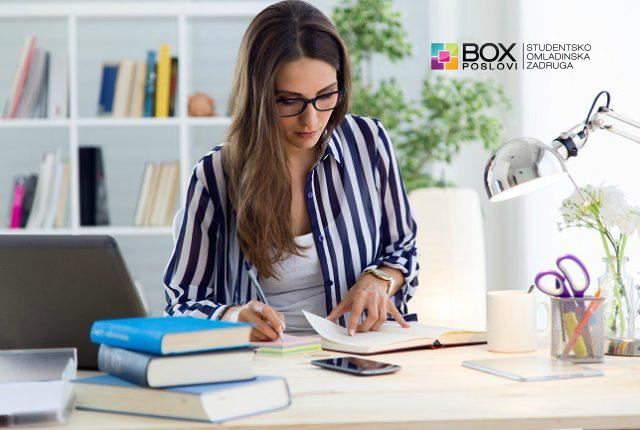Studentsko omladinska zadruga BOX Poslovi - ekonomski tehničar