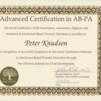 Certified Ekspert Attachment Based Parental Alienation