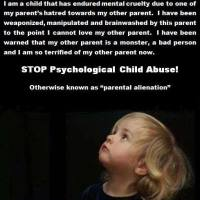 All Level of Parental Alienationen is Mental Violence, Child Psychological Abuse!