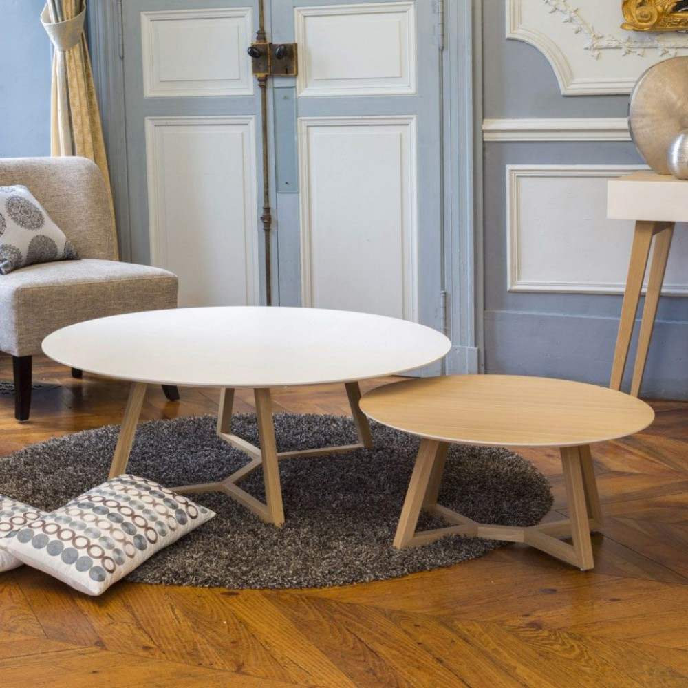 table basse ronde disco mark mobilier
