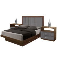 Monte Carlo Queen Size Bedroom Set w Storage Platform