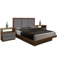 Monte Carlo King Size Platform Bedroom Set 4 Piece
