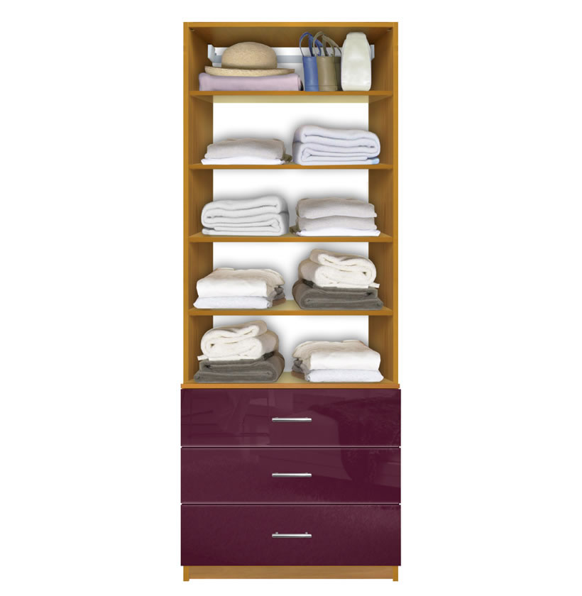 Organizational Shelving Units. Closet Drawer Unit