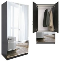 Wardrobe Closet: Wardrobe Closet Cabinets With Mirror Doors