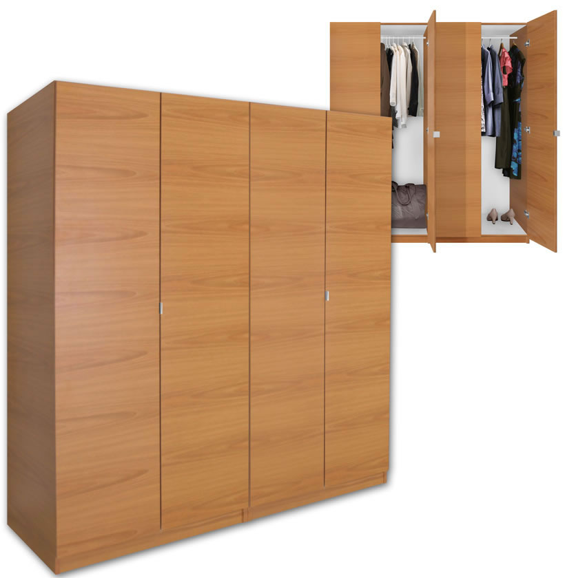 Free Standing Wardrobe Closet With Doors