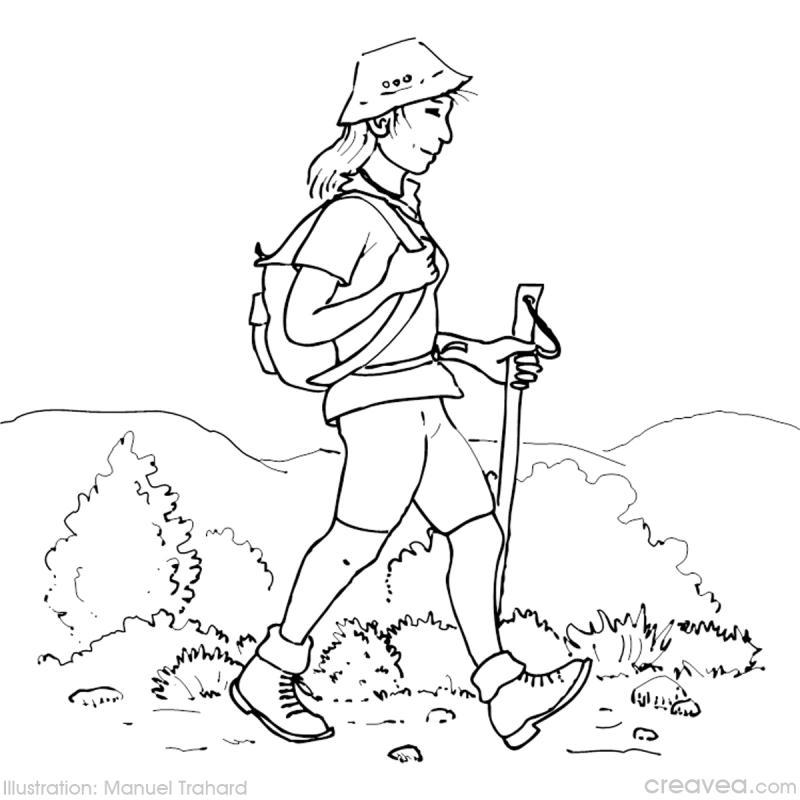 Coloriage vacances  la montagne  Ides conseils et tuto