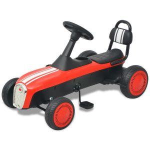 vidaXL Gokart med pedal röd