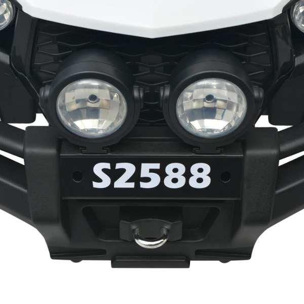 vidaXL Elektrisk åkbil för 2 personer XXL vit och svart