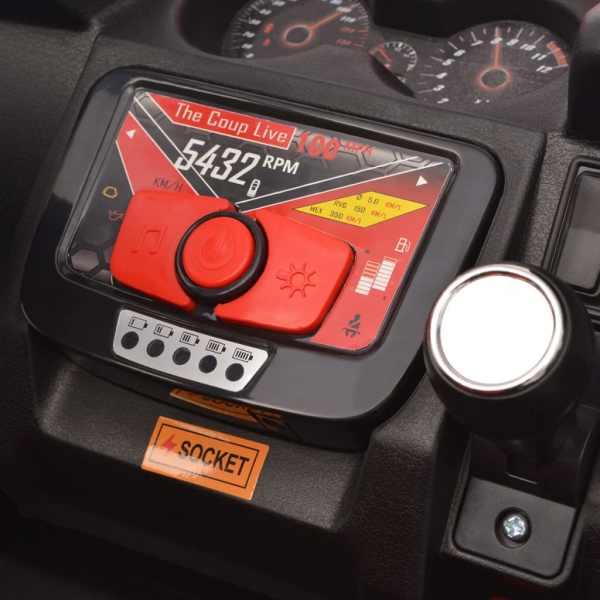 vidaXL Elektrisk åkbil för 2 personer XXL röd och svart