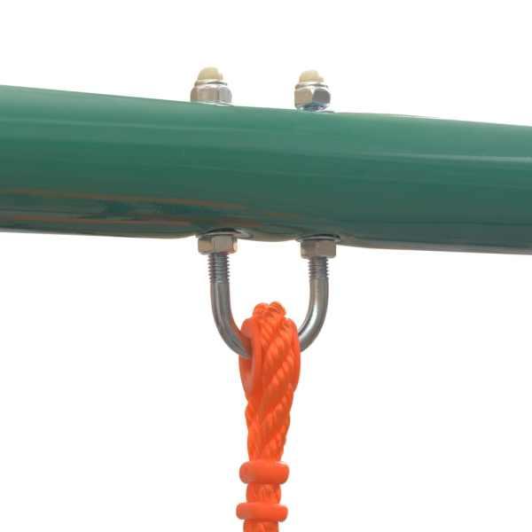 vidaXL Gungställning med 5 sitsar orange