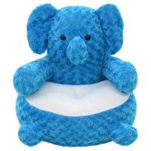 vidaXL Gosedjur elefant plysch blå