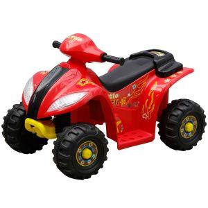 vidaXL Elektrisk fyrhjuling för barn röd och svart