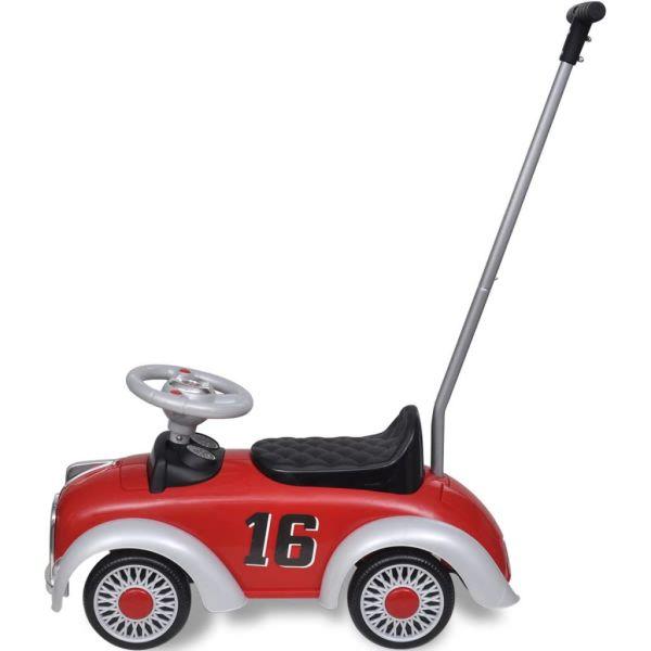 Gåbil för barn med handtag retro-design röd