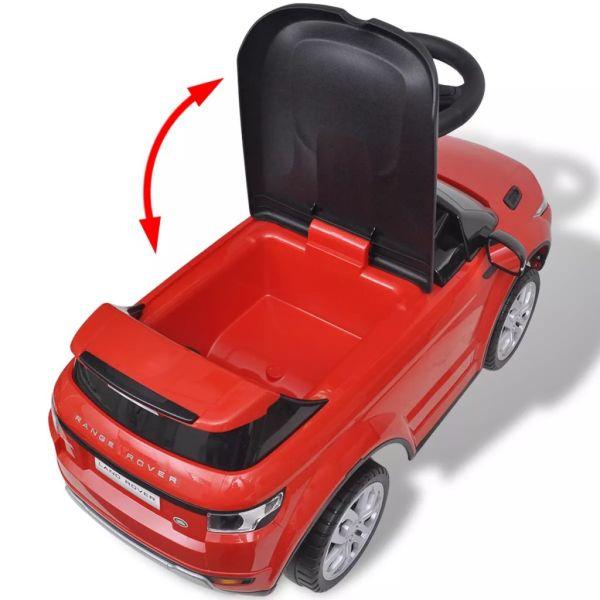 vidaXL Åkbil för barn Land Rover 348 med musik röd