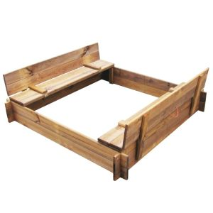 vidaXL Sandlåda impregnerat trä fyrkantig