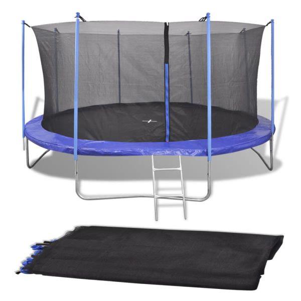 vidaXL Säkerhetsnät PE svart för 3,66 m rund studsmatta
