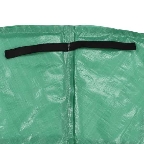 vidaXL Kantskydd PE grön för 12 fot/3,66 m rund studsmatta