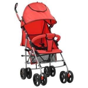 vidaXL 2-i-1 Barnvagn/sittvagn stål röd