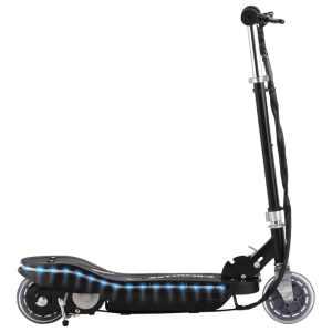 vidaXL Elektrisk sparkcykel med LED 120 W svart