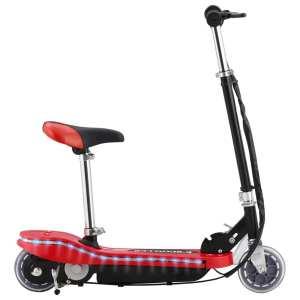 vidaXL Elektrisk sparkcykel med sits och LED 120 W röd