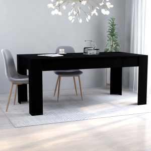 vidaXL Matbord svart 180x90x76 cm spånskiva