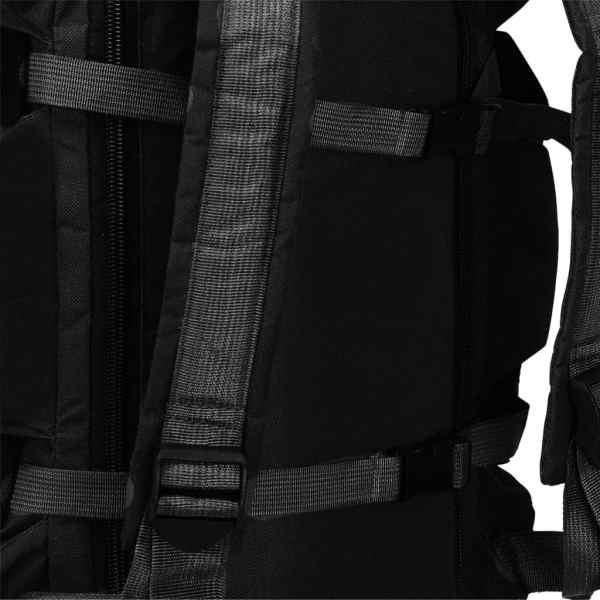 vidaXL 3-i-1 Militärinspirerad duffelväska 120 L svart