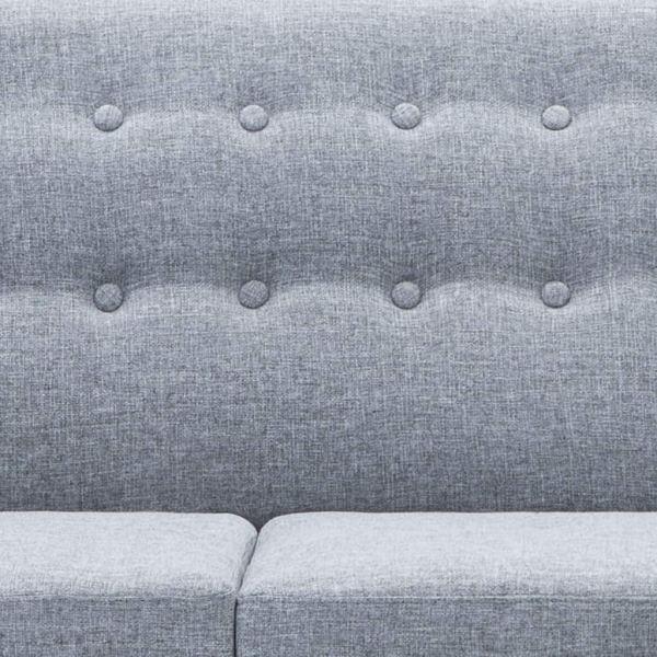 vidaXL Soffa L-formad tygklädsel 171,5x138x81,5 cm ljusgrå