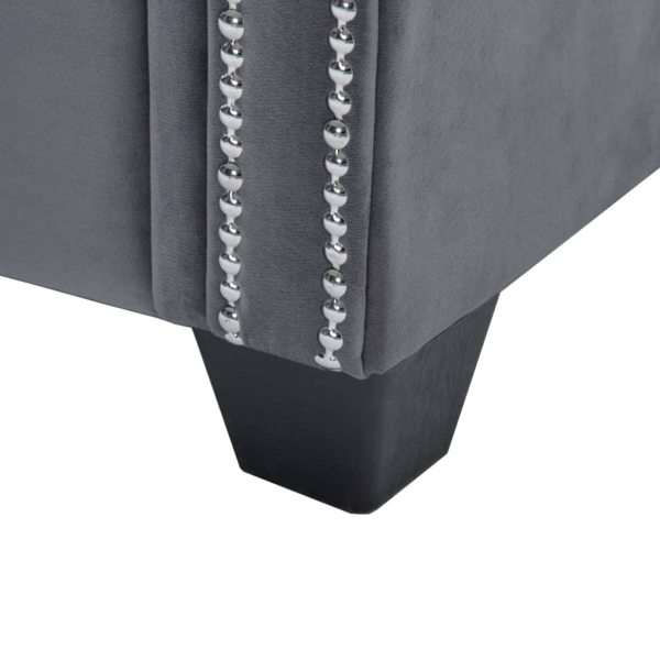 vidaXL Chesterfieldsoffor 2 st sammetsklädsel grå