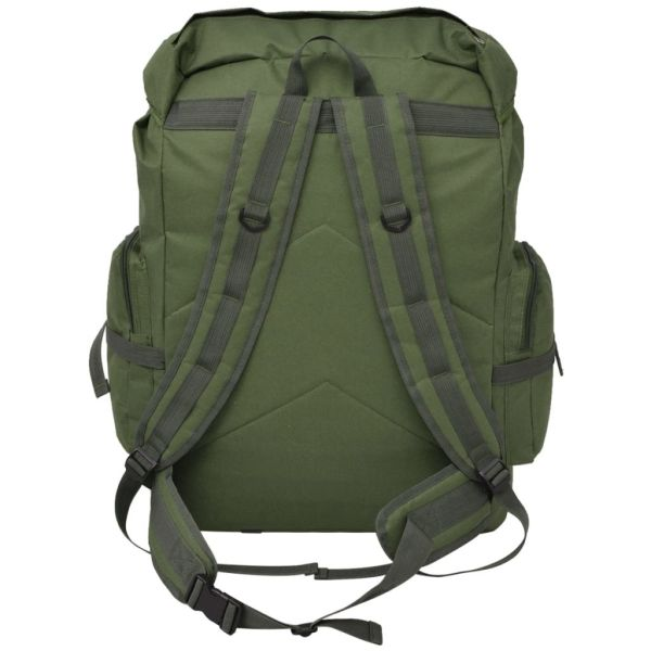 vidaXL Arméryggsäck 65 L grön
