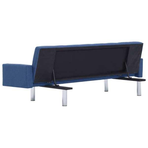 vidaXL Bäddsoffa med armstöd blå polyester