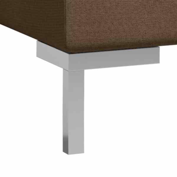 vidaXL Soffgrupp 2 delar tyg brun