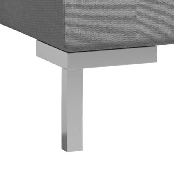 vidaXL Mittensits till modulsoffa 3 st med dynor tyg ljusgrå