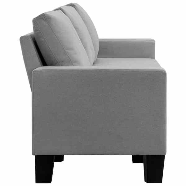 vidaXL 5-sitssoffa ljusgrå tyg