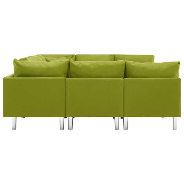 vidaXL Modulsoffa tyg grön