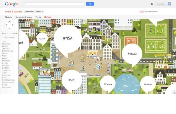 Willkommen im Big-Data-Neuland: Screenshot der Google-Seite zur Bundestagswahl.