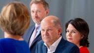SPD, Grüne und FDP sprechen am Donnerstag über eine mögliche Koalition.