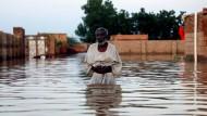 Land unter: In der Region um die sudanesische Hauptstadt Khartum wurden die Häuser vieler Menschen durch die Überschwemmungen zerstört.