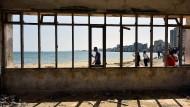 Sperrgebiet seit 1974: der Strand von Varoscha, eines Vororts der einst wichtigsten Hafenstadt Zyperns