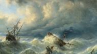 """Raden Saleh Ben Jaggia: """"Schiffe auf stürmischer See"""".(Symbolbild)"""