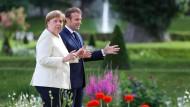 Merkel und Macron in Meseberg